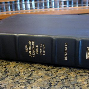 Lockman NASB Large Print Ultrathin Ref. Bible Black Calfskin