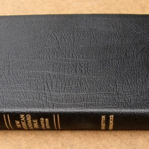 Lockman NASB Ultrathin Reference Bible-Genuine Leather Black