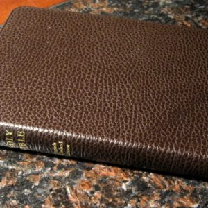 Cambridge ESV Pitt Minion Reference Brown calf split leather