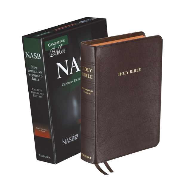Cambridge NASB Clarion Reference Brown Calfskin