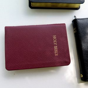 TBS Royal Ruby Text Bible Burgundy Calfskin