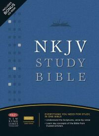 Nelson NKJV Study Bible in Bonded Leather Burgundy
