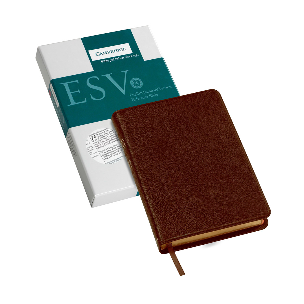 Cambridge ESV Pitt Minion Reference Brown Goatskin