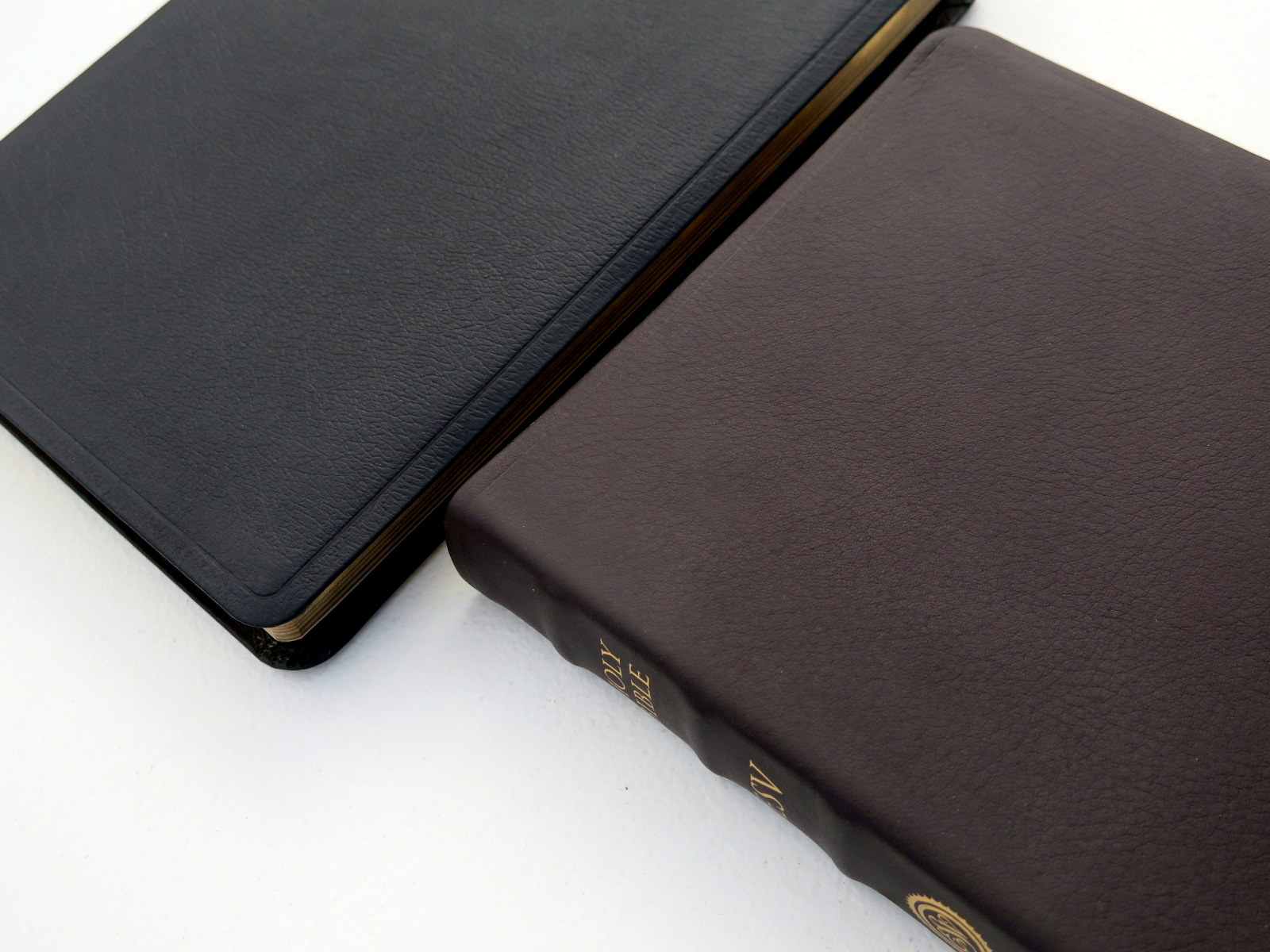 ESV Study Bible Large Print Black Genuine Leather | eBay
