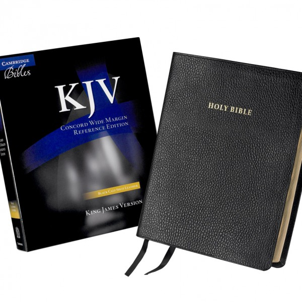 Cambridge KJV Concord Wide-Margin Reference Black Calf Split