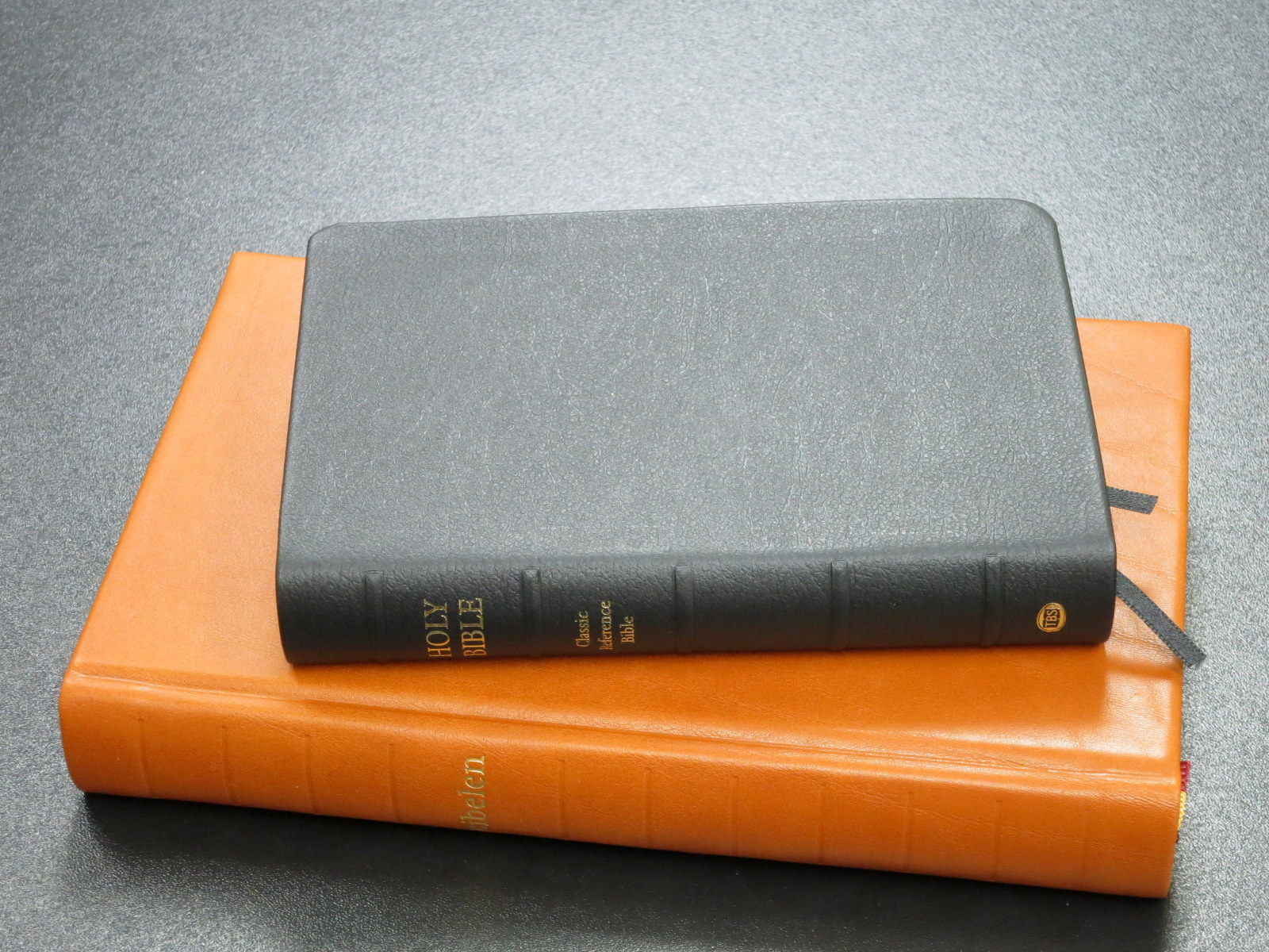 TBS Classic Reference Bible Black Calfskin