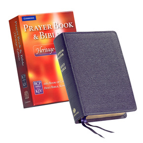 Heritage Edition Bible and Prayer Book Purple Calf Split