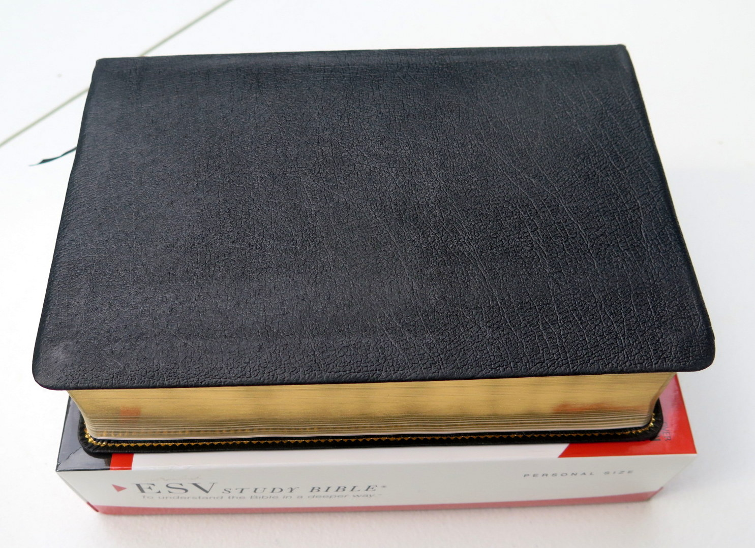 Crossway ESV Study Bible, Personal Size (Genuine Leather, Black)