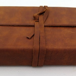 ESV Single Column Journaling (Natural Leather, Brown, Flap)