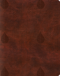 ESV Single Column Journaling Bible (Trutone, Chestnut, Leaves)