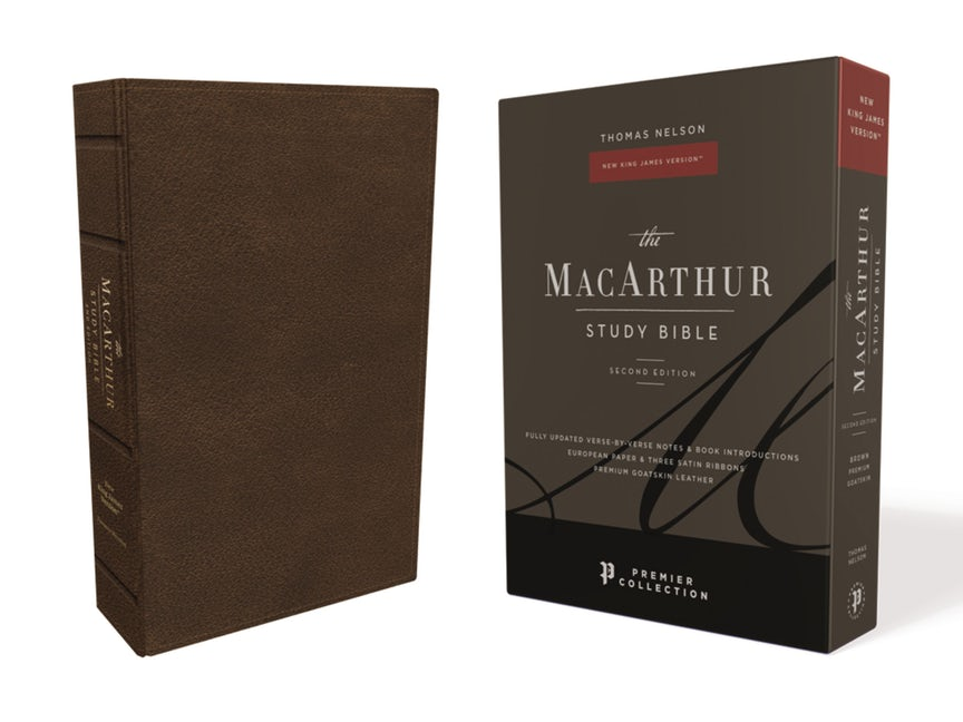 The NKJV, MacArthur Study Bible, 2nd Edition, Premium Goatskin Leather,  Brown, Premier Collection - PREORDER